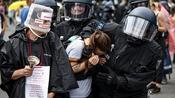 Rund 500 Festnahmen bei Protest gegen Corona-Regeln in Berlin