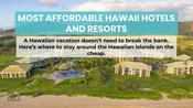 10 Most Affordable Hawaii Hotels and Resorts
