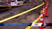 Cleanup underway after water main break floods Beacon Hill homes
